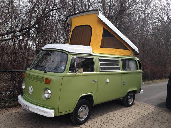 1978 vw bus camper westfalia for sale in chicago il. Black Bedroom Furniture Sets. Home Design Ideas